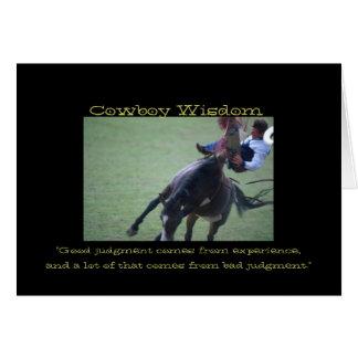 Cowboy Wisdom III Card