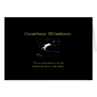 Cowboy Wisdom V Card