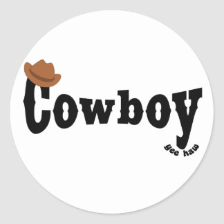 cowboy yeehaw stickers