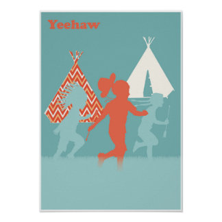 Cowboys and Indians Art Print Poster