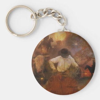 Cowboys - Boots, Wild Horses & Western Sunsets Key Ring