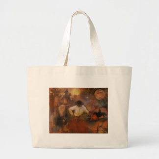 Cowboys - Boots, Wild Horses & Western Sunsets Jumbo Tote Bag