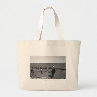 Cowboys branding jumbo tote bag