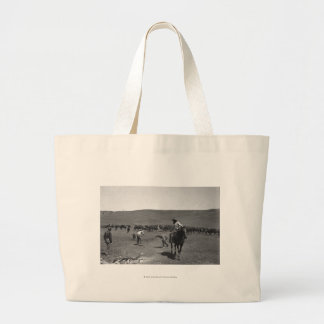 Cowboys branding large tote bag