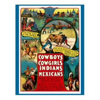 Cowboys, Cowgirls - Postcard