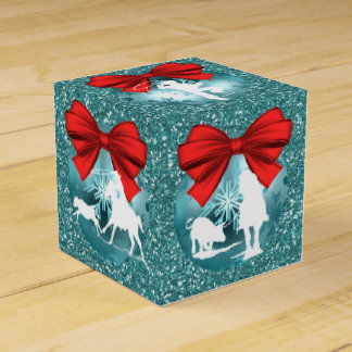 Cowboys Cowgirls Roping On Blue Gift/Favor Box
