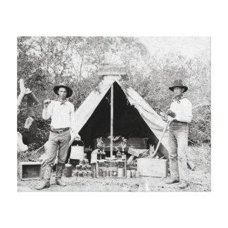 Cowboys in Camp 1890 Canvas Prints