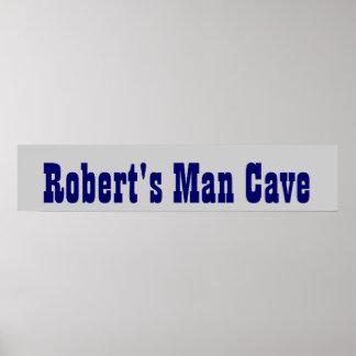 Cowboy's Man Cave Banner Poster