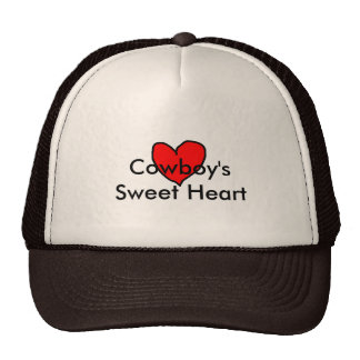 Cowboy's Sweet Heart Cap Trucker Hat