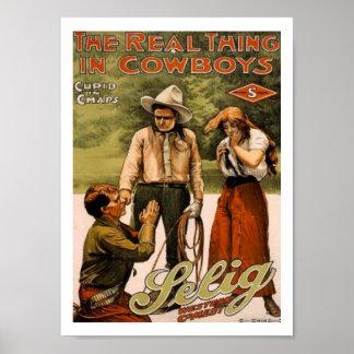 Cowboys the Real Thing Art Print Poster