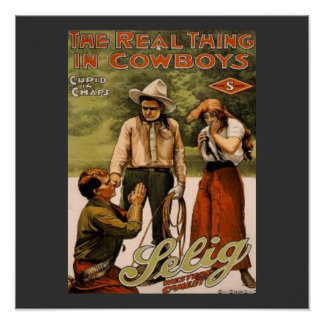 Cowboys the Real Thing Art Print Poster