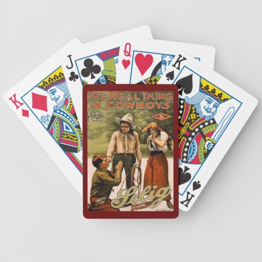 Cowboys the real thing Playing Cards