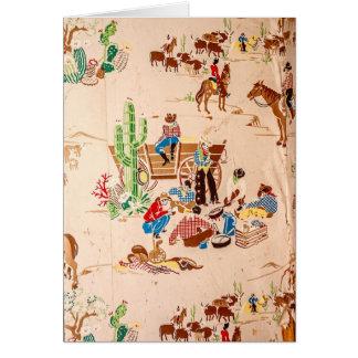 Cowboys - Vintage Wallpaper - Wild West Card