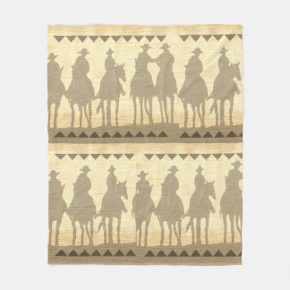 "Cowboys western roundup fleece Blanket 50""x60"""