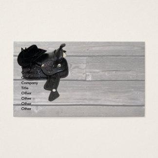 CowboySaddleWoodgrain, Name, Address 1, Address... Business Card