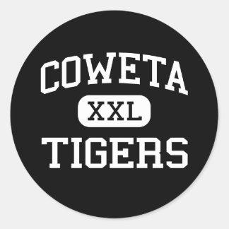 Coweta - Tigers - Junior - Coweta Oklahoma Classic Round Sticker
