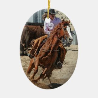 cowgir ceramic ornament