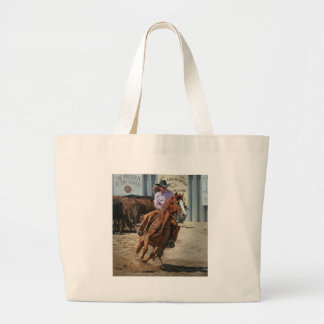 cowgir large tote bag
