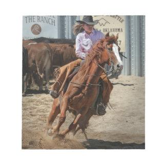 cowgir notepad