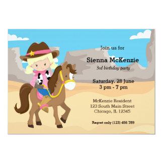 Cowgirl 13 Cm X 18 Cm Invitation Card