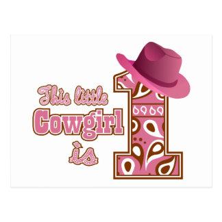 Cowgirl 1st Birthday Postcard