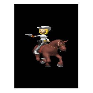 Cowgirl 2 postcard