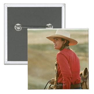 Cowgirl 4 15 cm square badge