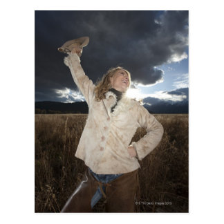 Cowgirl 8 postcard