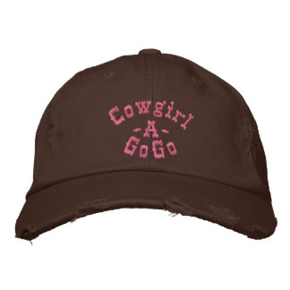 Cowgirl, -A-, GoGo Embroidered Baseball Cap
