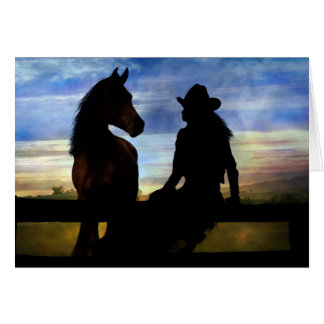 Cowgirl and Horse Happy Birthday Card