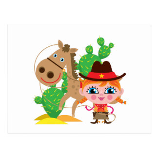 Cowgirl and Horse Postcards