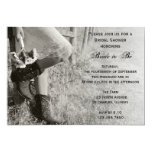 Cowgirl and Sunflowers Country Bridal Shower Invites