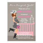Cowgirl Baby Shower Invitations - Brunette Western
