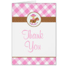 Cowgirl Baby Shower or Birthday Thank you card