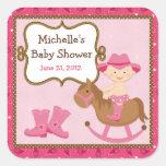 Cowgirl Baby Shower Sticker