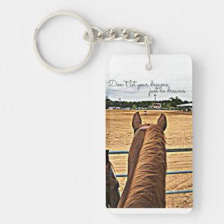Cowgirl Barrel Racer Motivational Key Chain