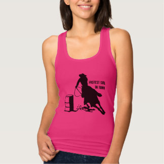 Cowgirl Barrel Racer Rodeo Tank Top
