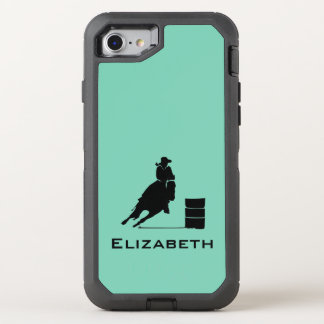 Cowgirl Barrel Racer Silhouette Rodeo OtterBox Defender iPhone 8/7 Case