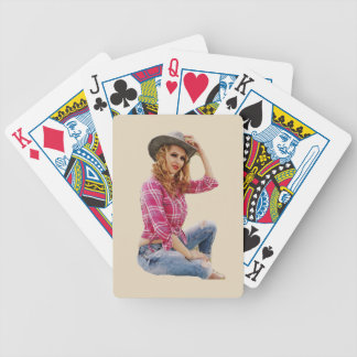 Cowgirl Bicycle Playing Cards