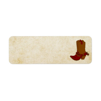 Cowgirl Boot Address Label