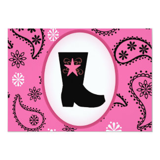 Cowgirl Boot Birthday Invitation