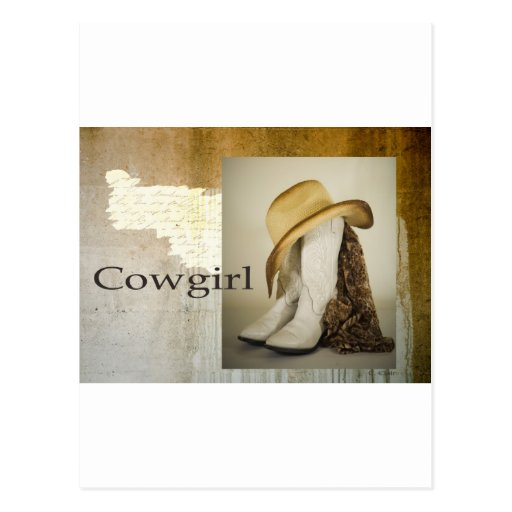 Cowgirl Boot Hat Postcards