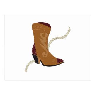 Cowgirl Boot Postcard