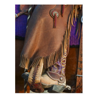 Cowgirl boots postcard