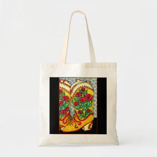 COWGIRL BOOTS TOTE BAG, ARTIST DESIGN