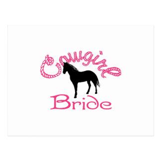 Cowgirl Bride Postcard