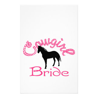 Cowgirl Bride Personalized Stationery