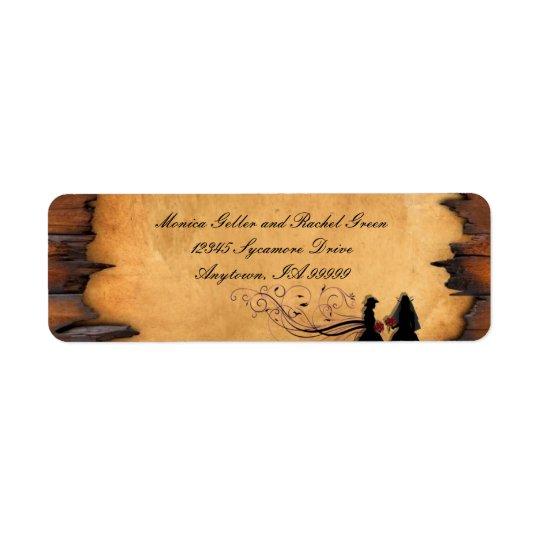Cowgirl Brides Custom Wedding Return Address Return Address Label