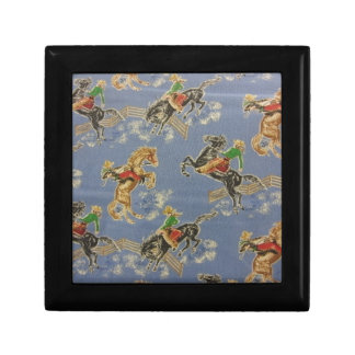 Cowgirl Bronc Rider Small Square Gift Box