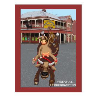 Cowgirl Bullrider Postcard